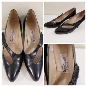 60's Vintage Pappagallo Art Deco Style Mary Jane